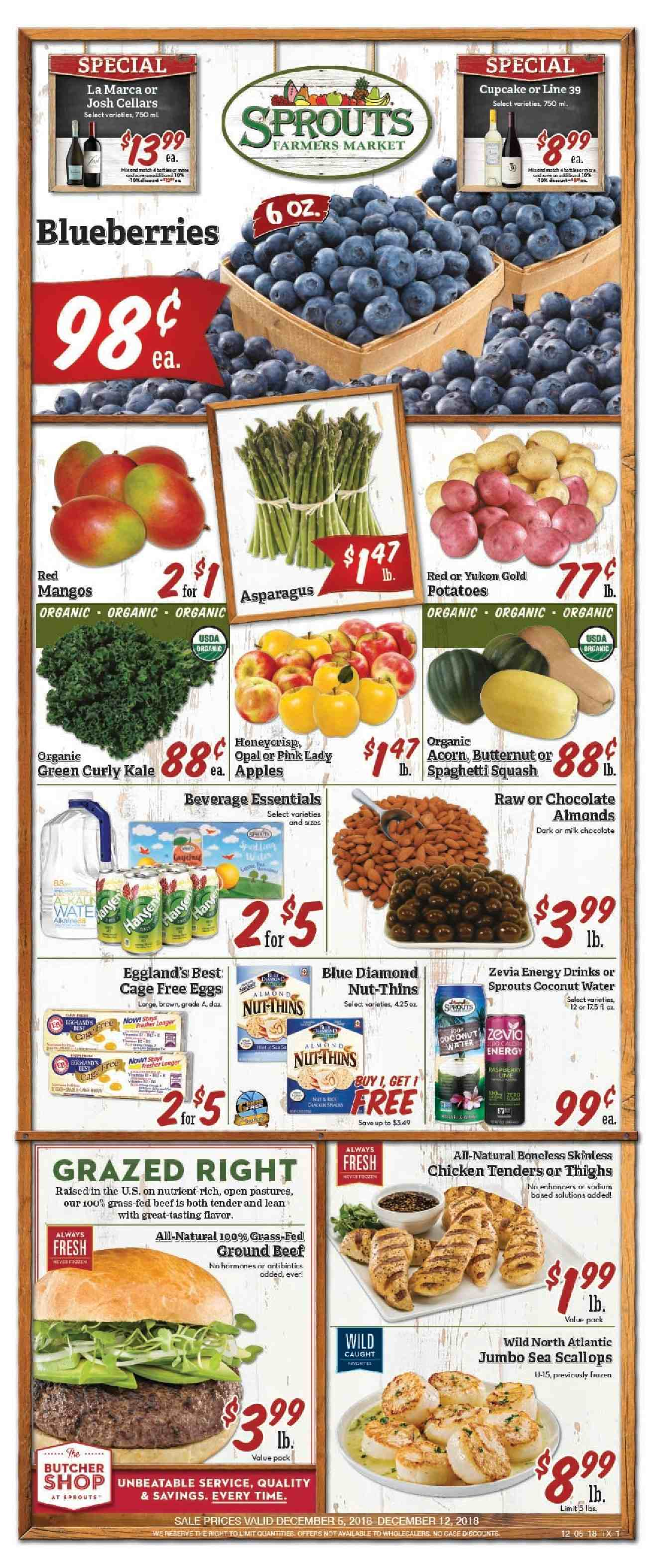 Sprouts Flyer  - 12.05.2018 - 12.12.2018. Page 1.
