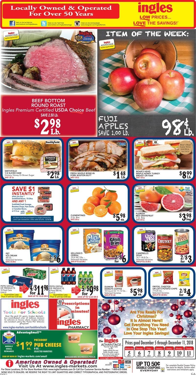 Ingles Flyer  - 12.05.2018 - 12.11.2018. Page 1.