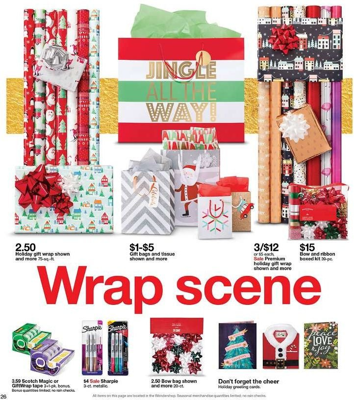 Target Flyer - 12.09.2018 - 12.15.2018 - Sales products - bag, tape, wrap. Page 26.