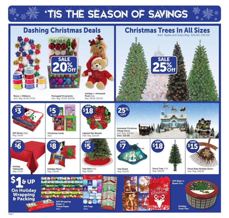 current fred s flyer 12 09 2018 12 15 2018 weekly ads us rh weekly ads us  fred's christmas ornaments