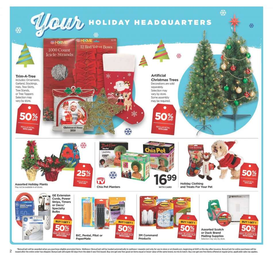 Rite Aid Christmas Hours.Rite Aid Flyer 12 09 2018 12 15 2018 Weekly Ads Us