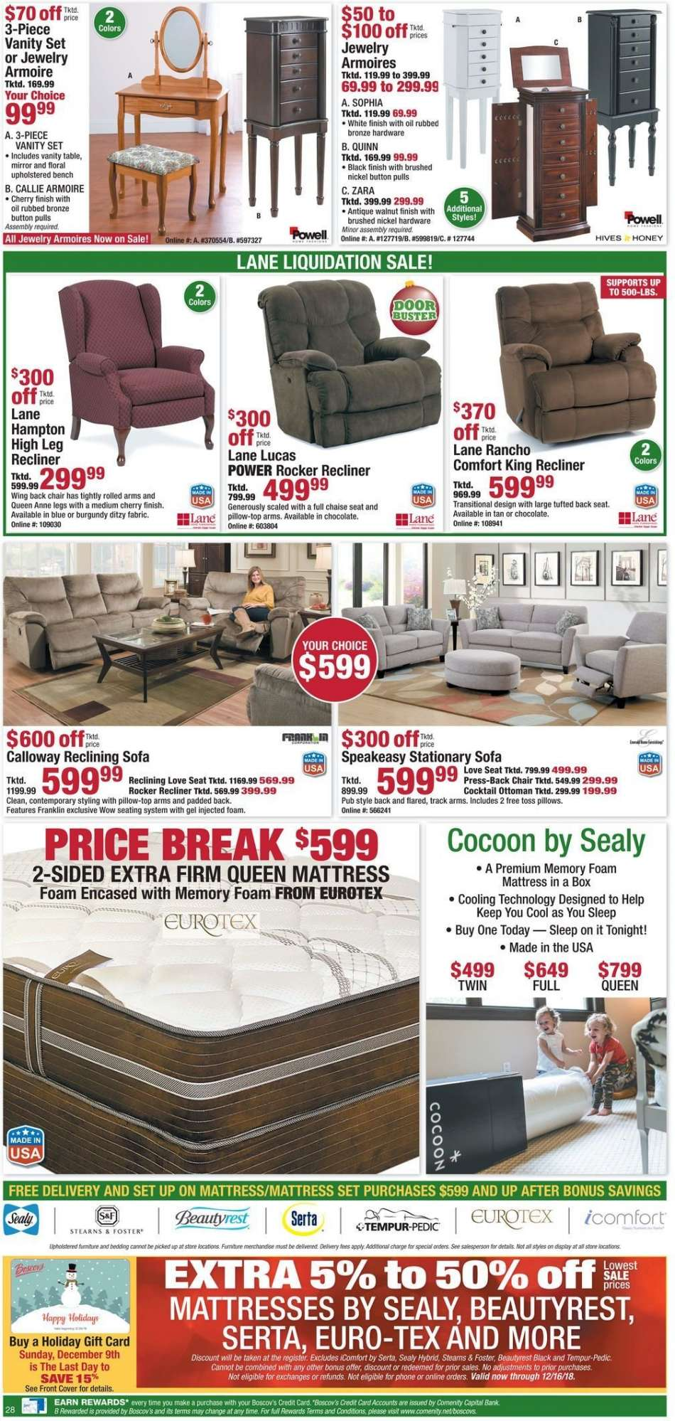 Remarkable Boscovs Flyer 12 09 2018 12 16 2018 Weekly Ads Us Gmtry Best Dining Table And Chair Ideas Images Gmtryco