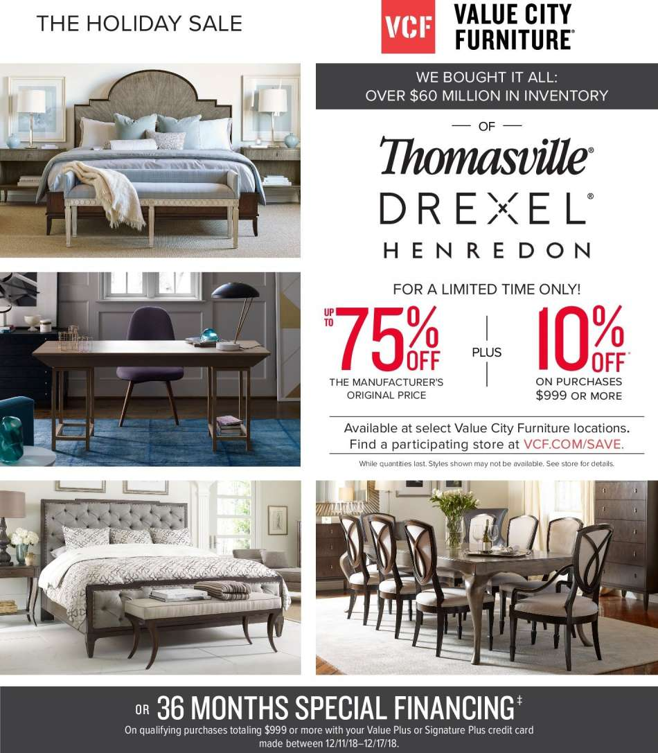 Value City Furniture Flyer 12 11 2018 12 17 2018 Weekly Ads Us