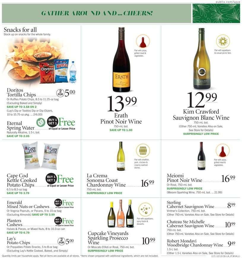 Current Publix Flyer 12 13 2018 12 19 2018 Weekly Ads Us