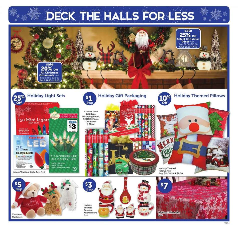 current fred s flyer 12 16 2018 12 22 2018 weekly ads us rh weekly ads us fred's christmas ornaments fred blankenship christmas decorations