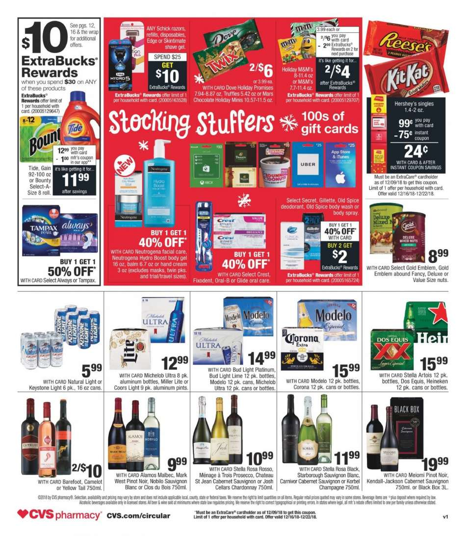 Current Cvs Pharmacy Flyer 12 16 2018 12 22 2018 Weekly Ads Us