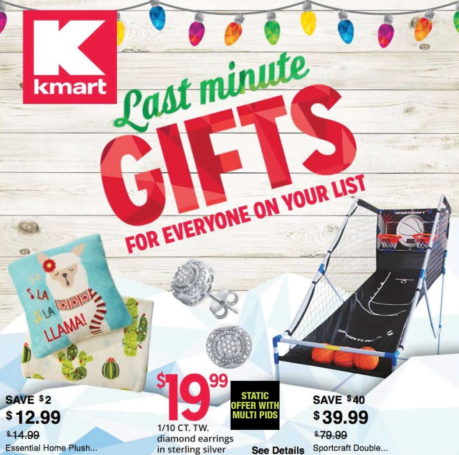 Kmart Flyer - 12.16.2018 - 12.24.2018 - Sales products - earring, earrings. Page 1.