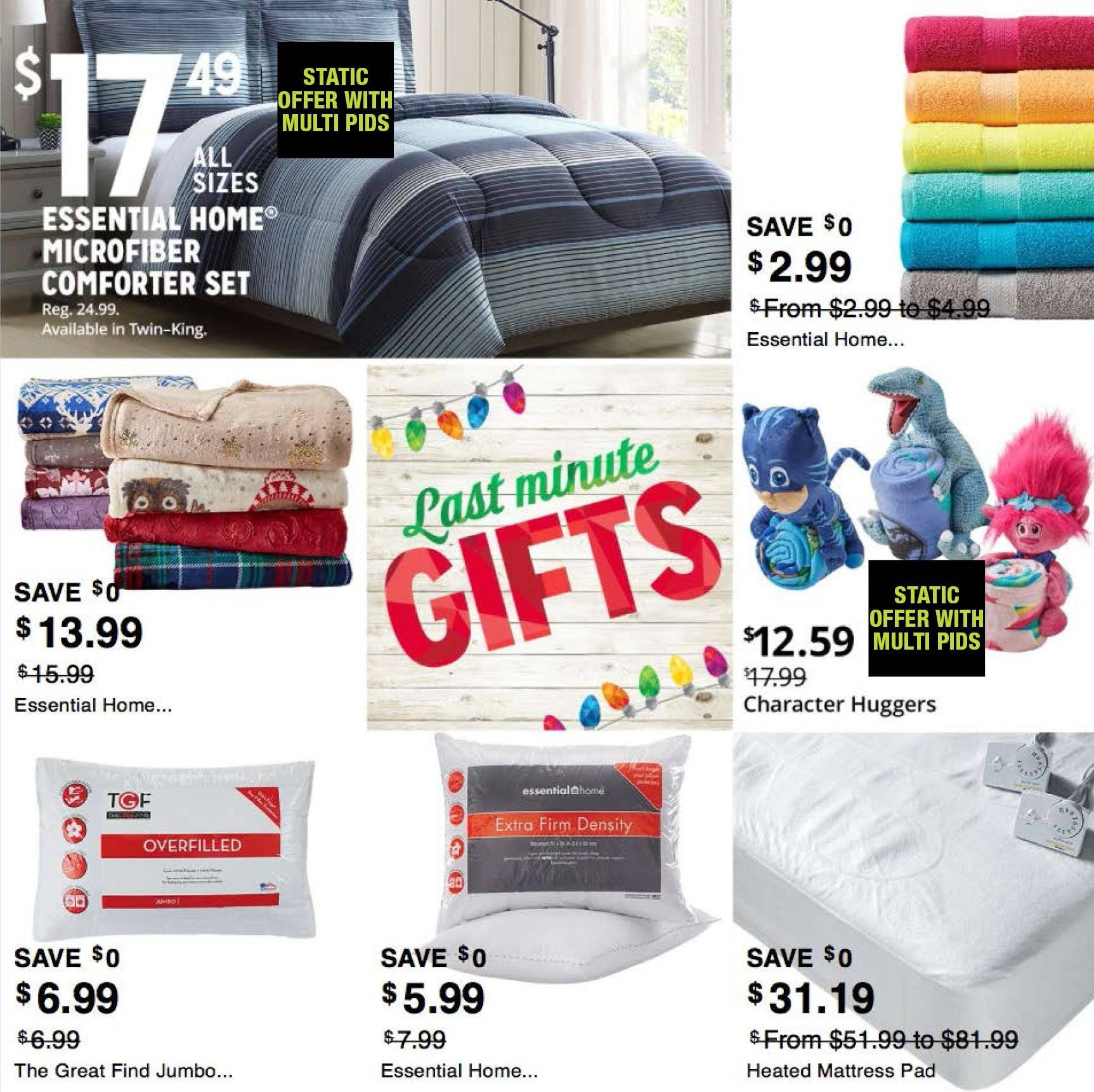 Kmart Flyer - 12.16.2018 - 12.24.2018 - Sales products - comforter set, comforter, mattress, microfiber, pad. Page 5.
