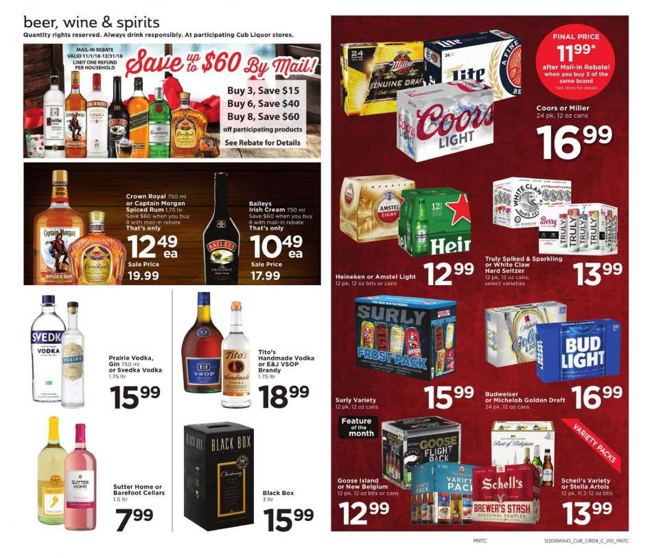 Cub Foods flyer 12 20 2018 - 12 26 2018 | Weekly-ads us