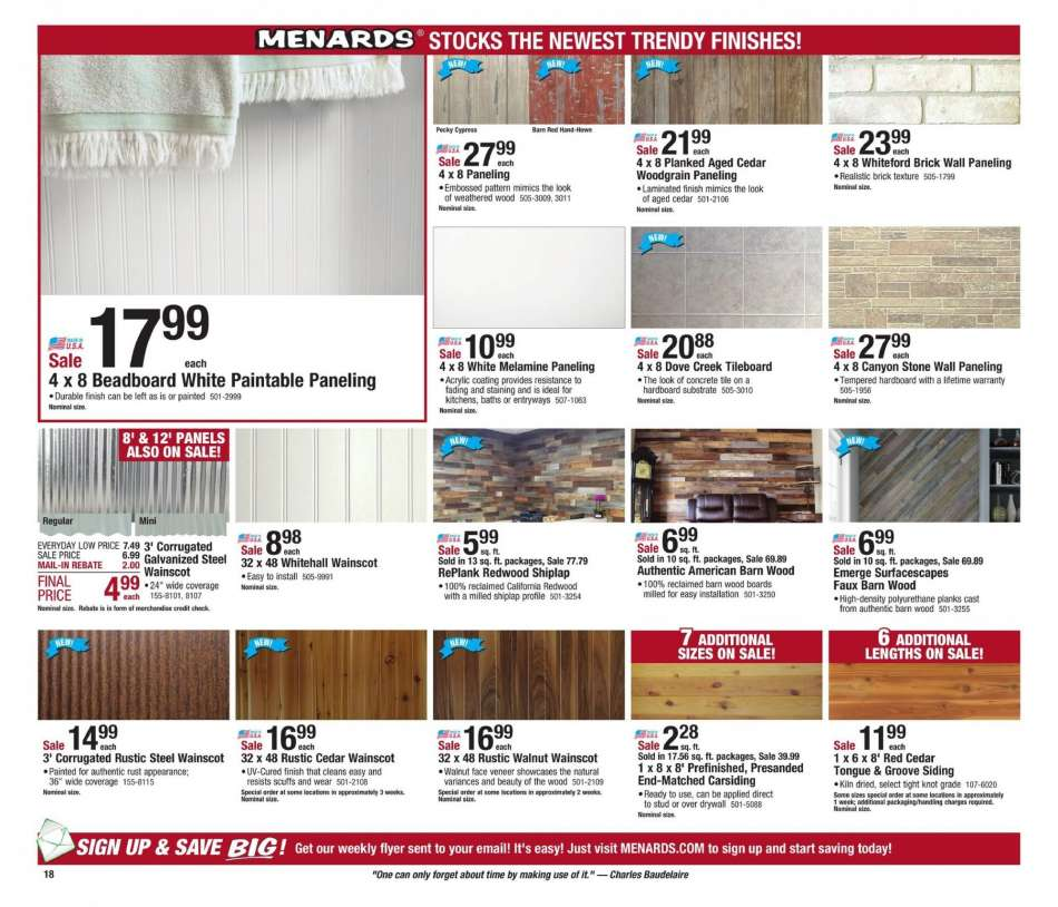 Menards flyer 12 23 2018 - 01 05 2019 | Weekly-ads us