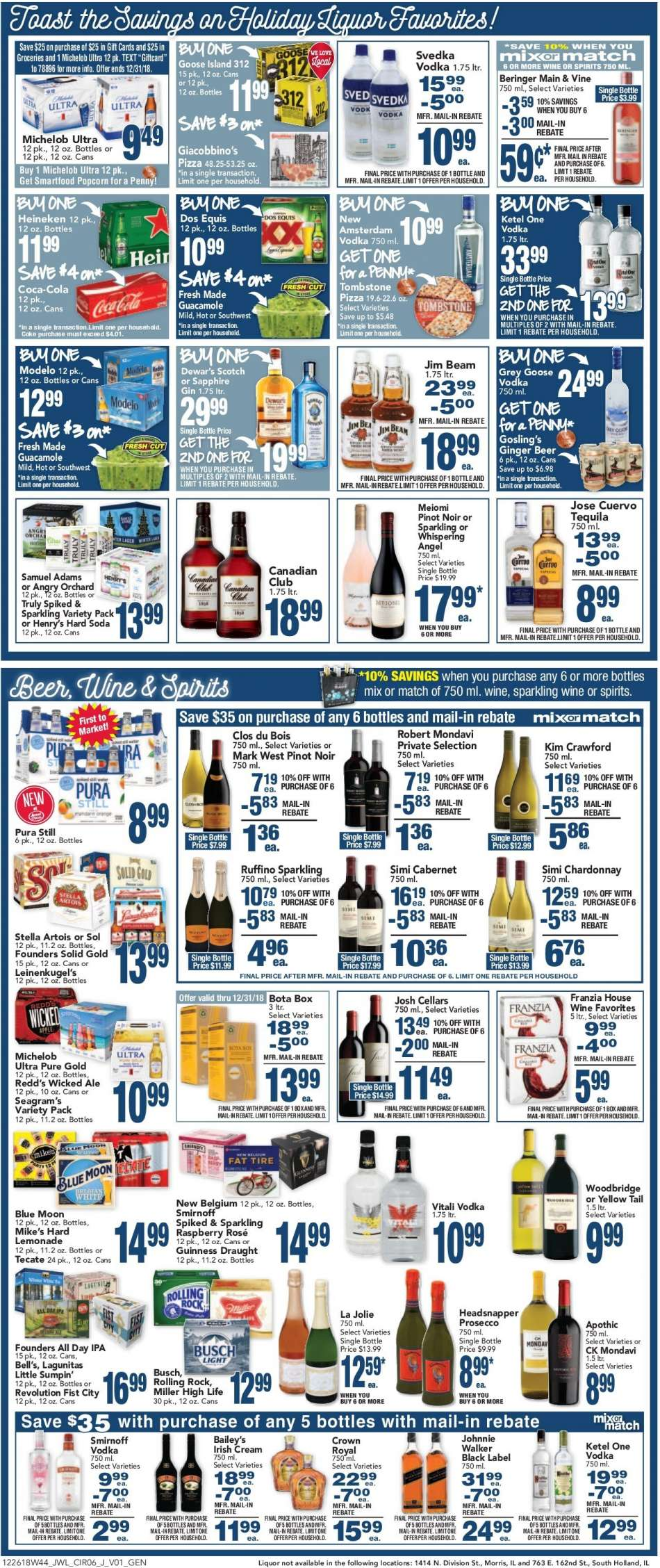 Jewel Osco flyer 12 26 2018 - 01 01 2019 | Weekly-ads us