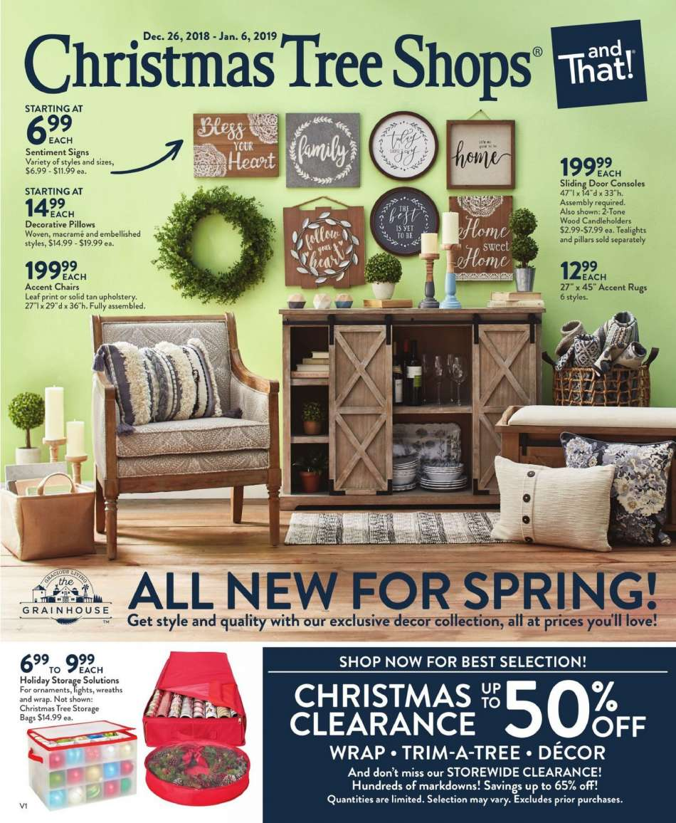 Current Christmas Tree Shops Flyer 12 26 2018 01 06 2019 Weekly