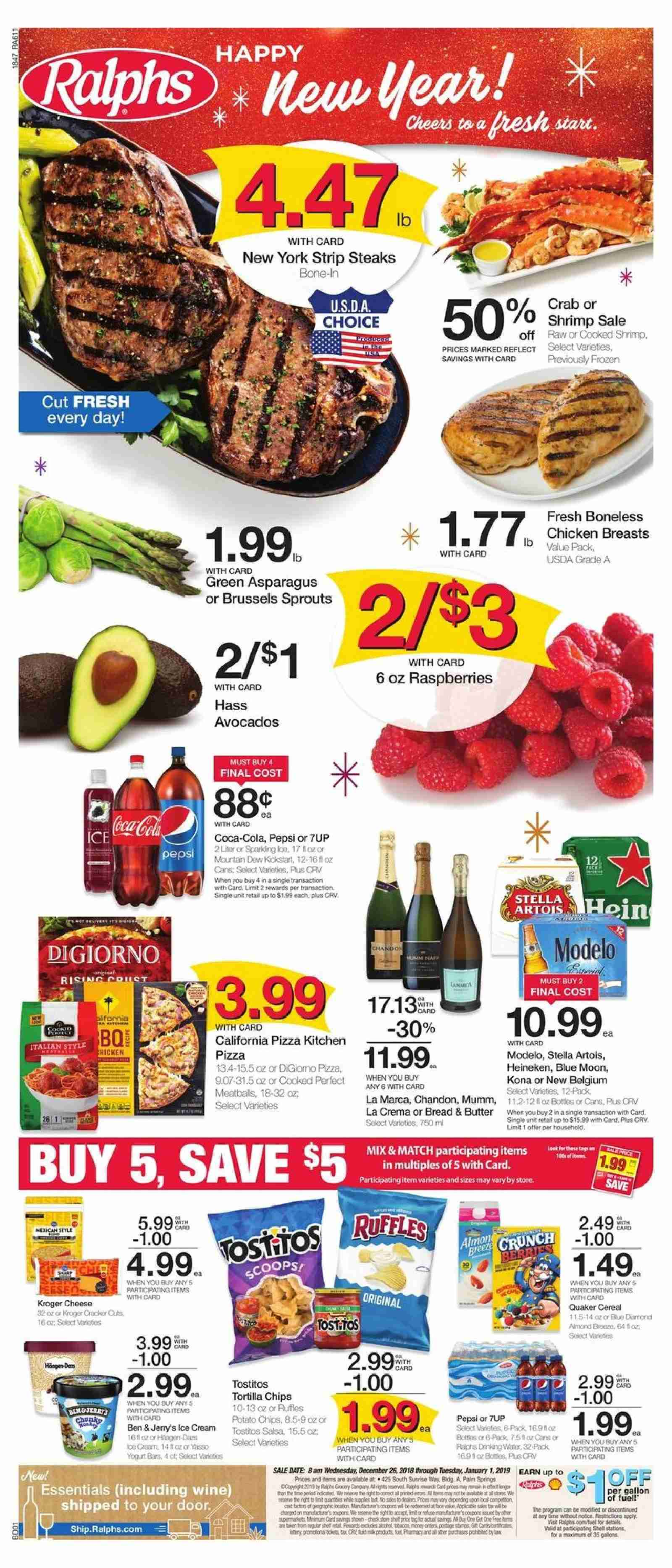Ralphs Flyer  - 12.26.2018 - 01.01.2019. Page 1.