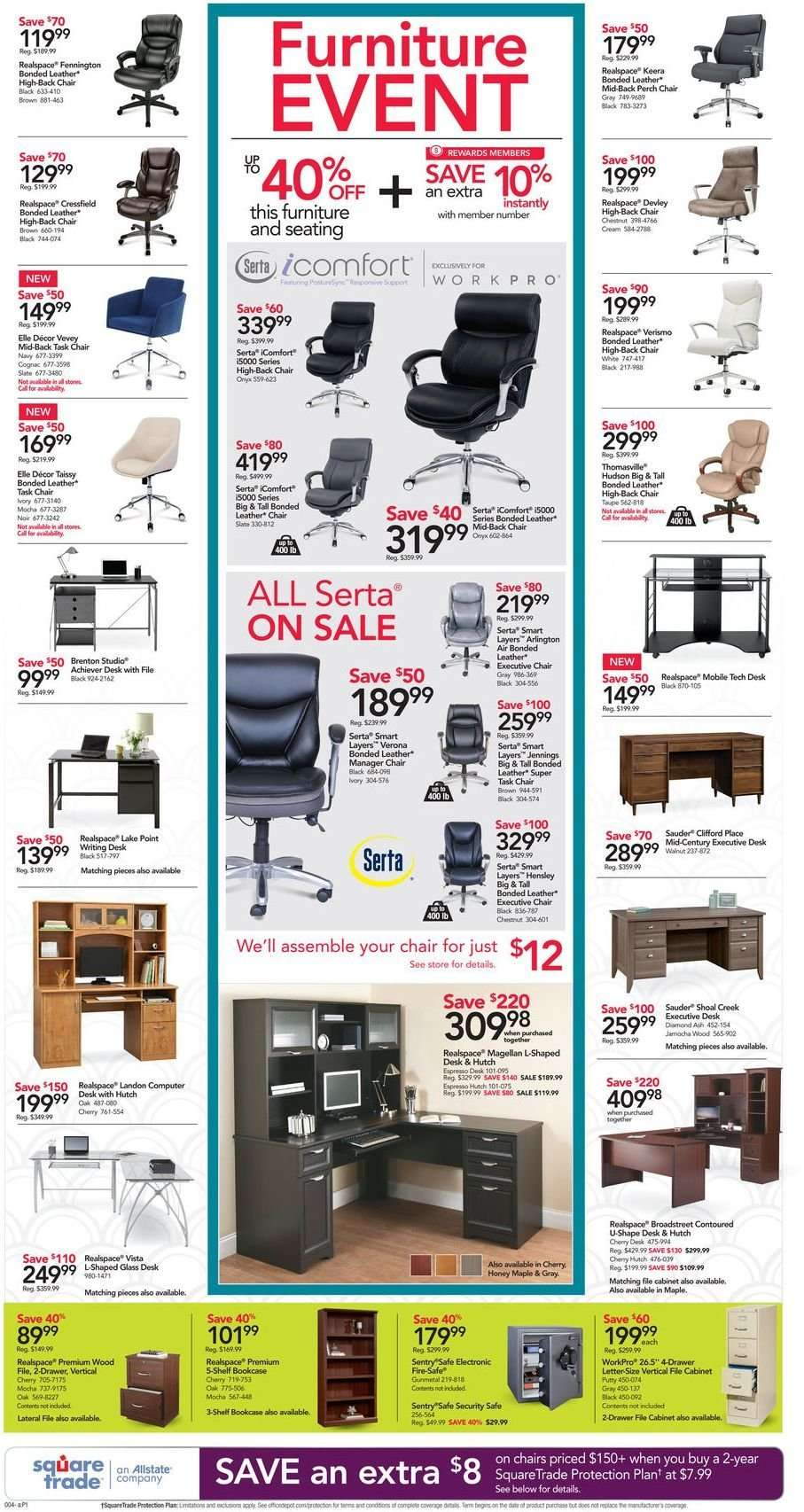 Office DEPOT Flyer - 12.30.2018 - 01.05.2019 - Sales products - bookcase