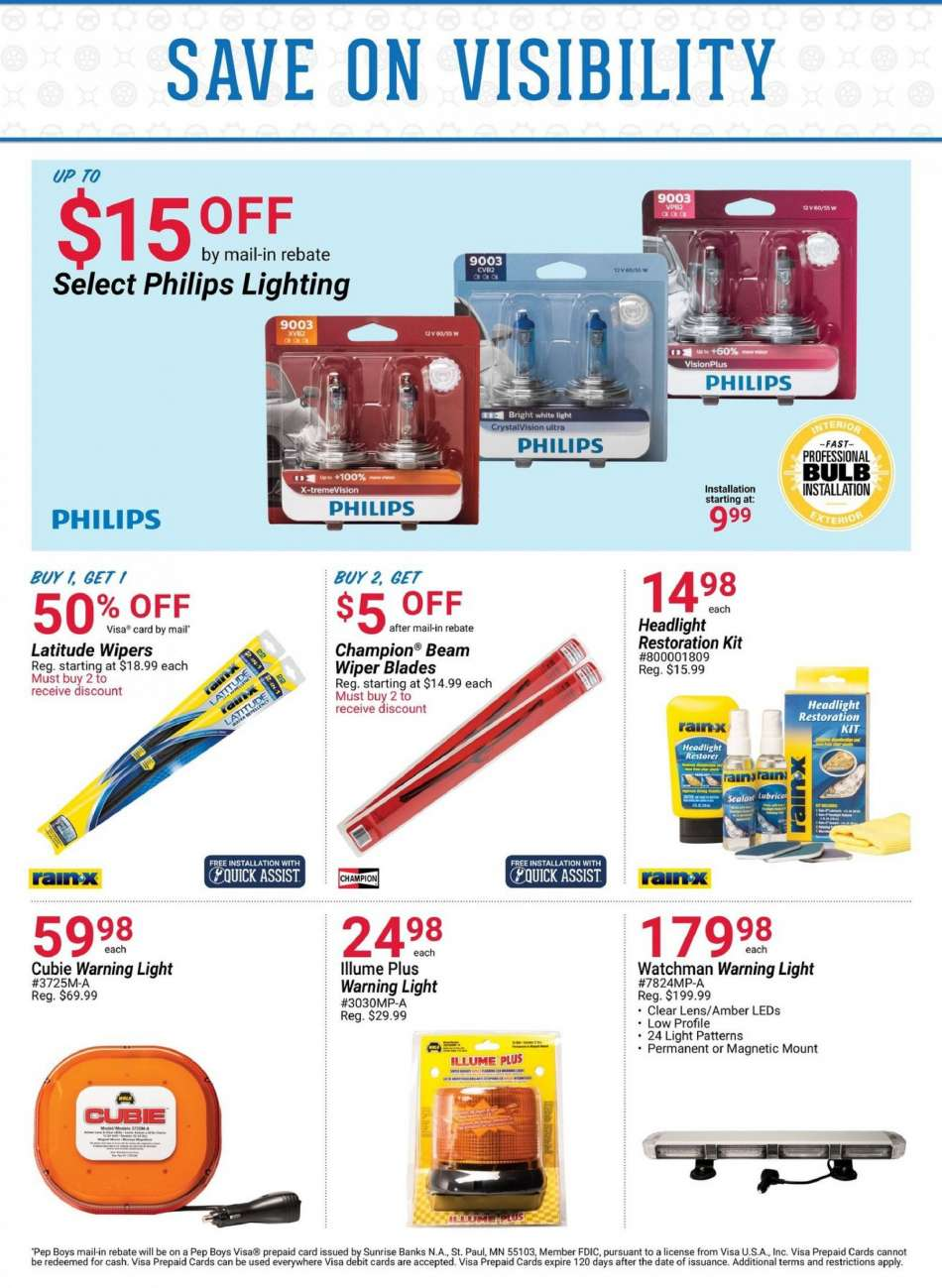 Pep Boys Flyer 12 31 2018 01 27 2019 S Products Amber
