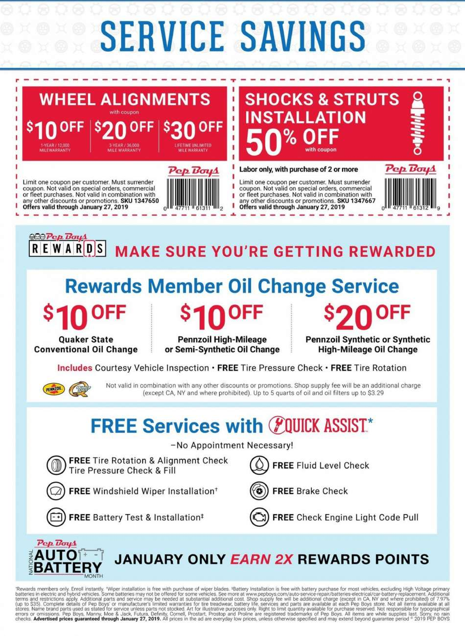 Current Pep Boys Flyer 12 31 2018 01 27 2019 Weekly Ads Us