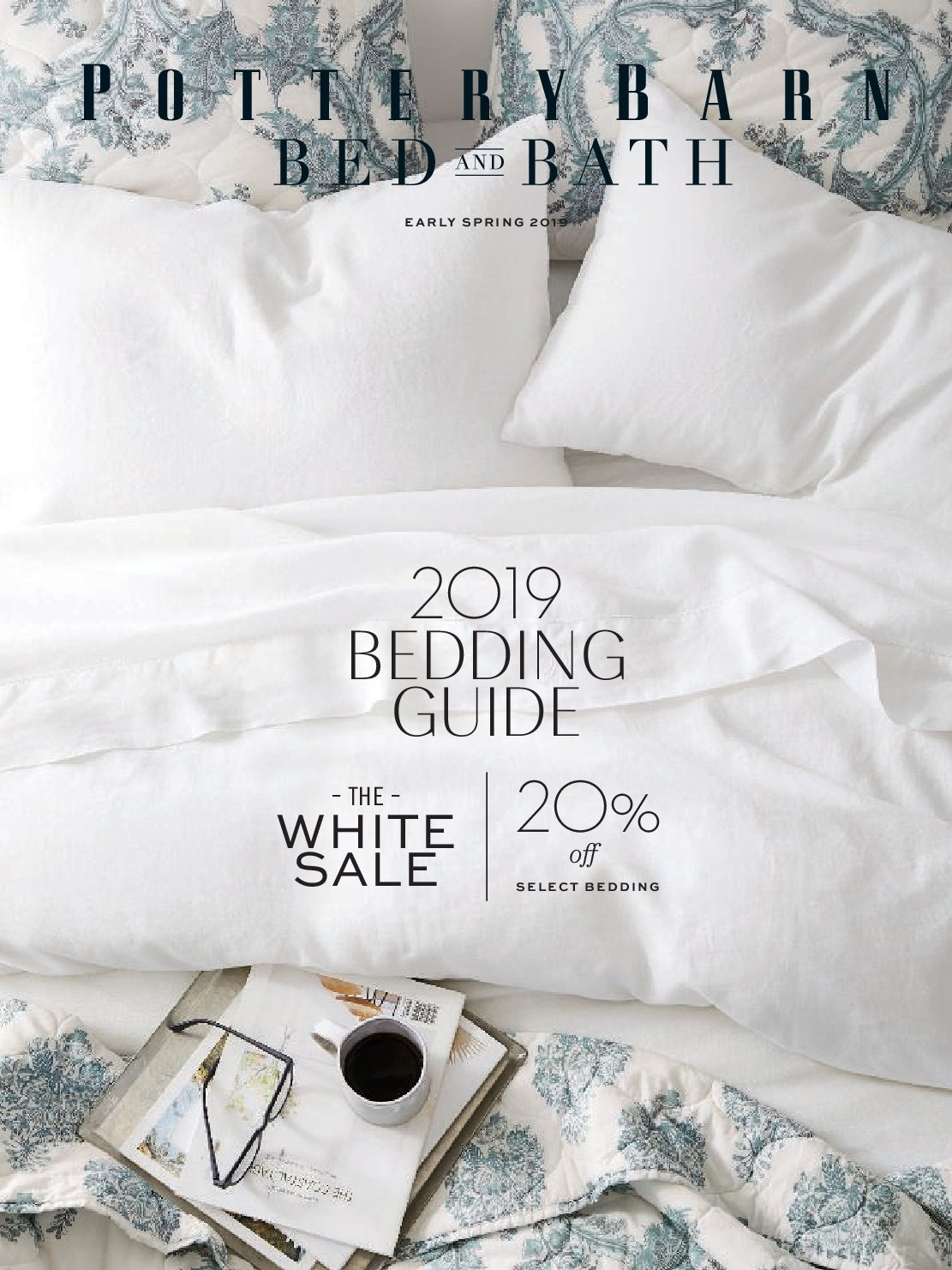 Pottery Barn Flyer - Sales products - bedding. Page 1.