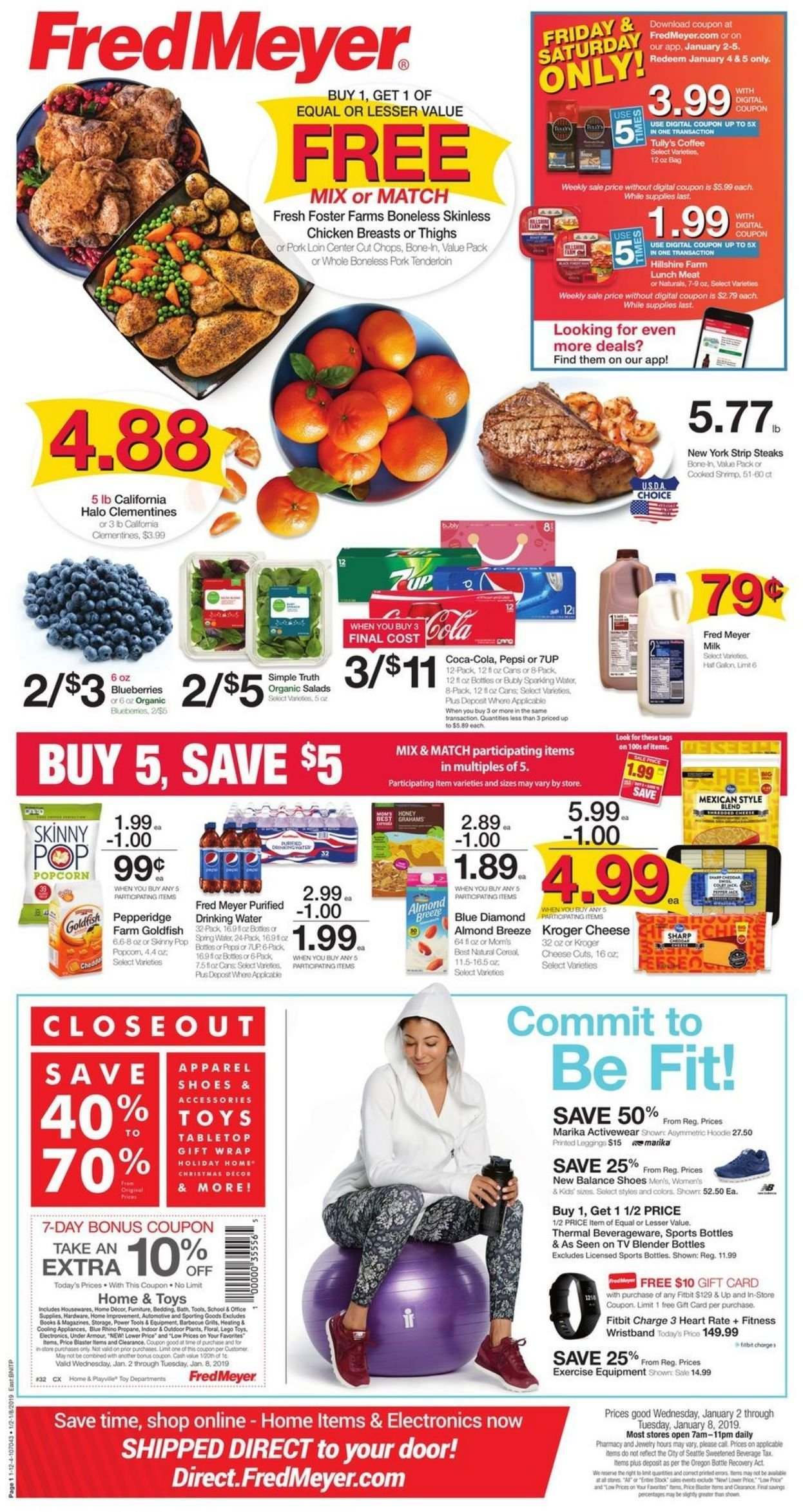 Fred Meyer Flyer  - 01.02.2019 - 01.08.2019. Page 1.