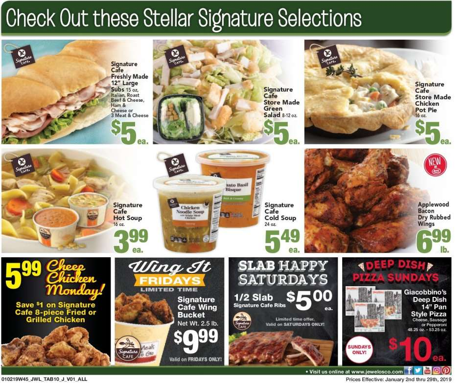 Current Jewel Osco Flyer 01 02 2019 01 29 2019 Weekly Ads Us