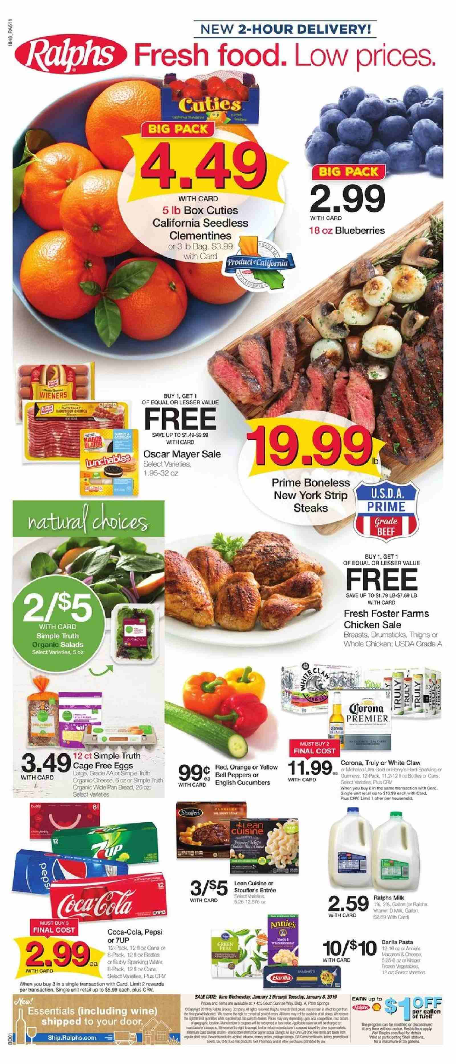 Ralphs Flyer  - 01.02.2019 - 01.08.2019. Page 1.