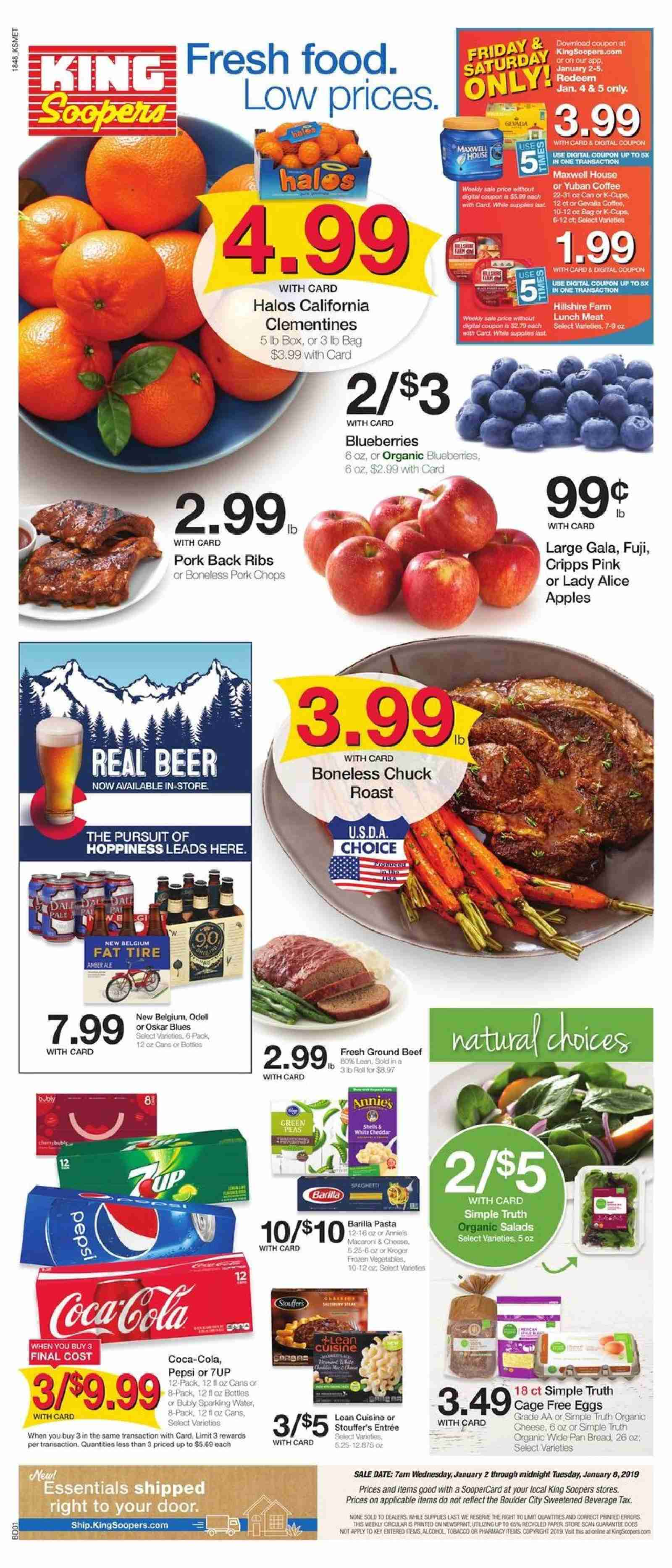 King Soopers Flyer  - 01.02.2019 - 01.08.2019. Page 1.