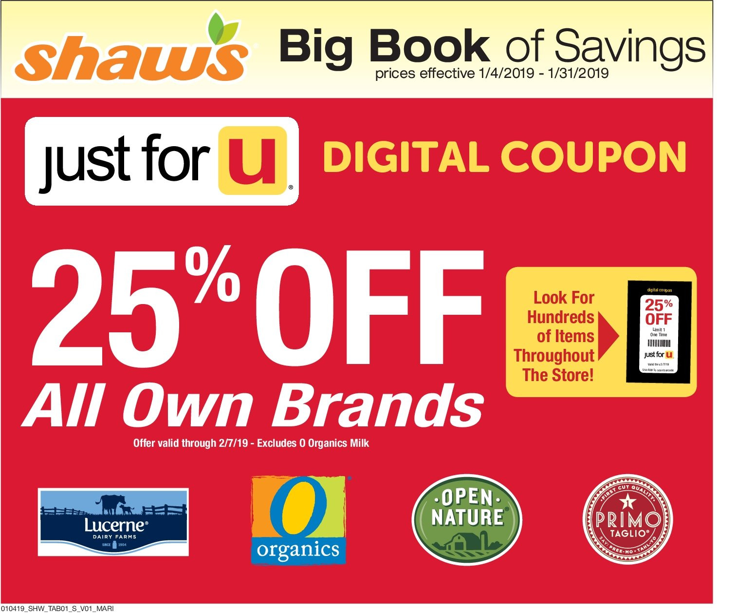 Shaw's Flyer  - 01.04.2019 - 01.31.2019. Page 1.
