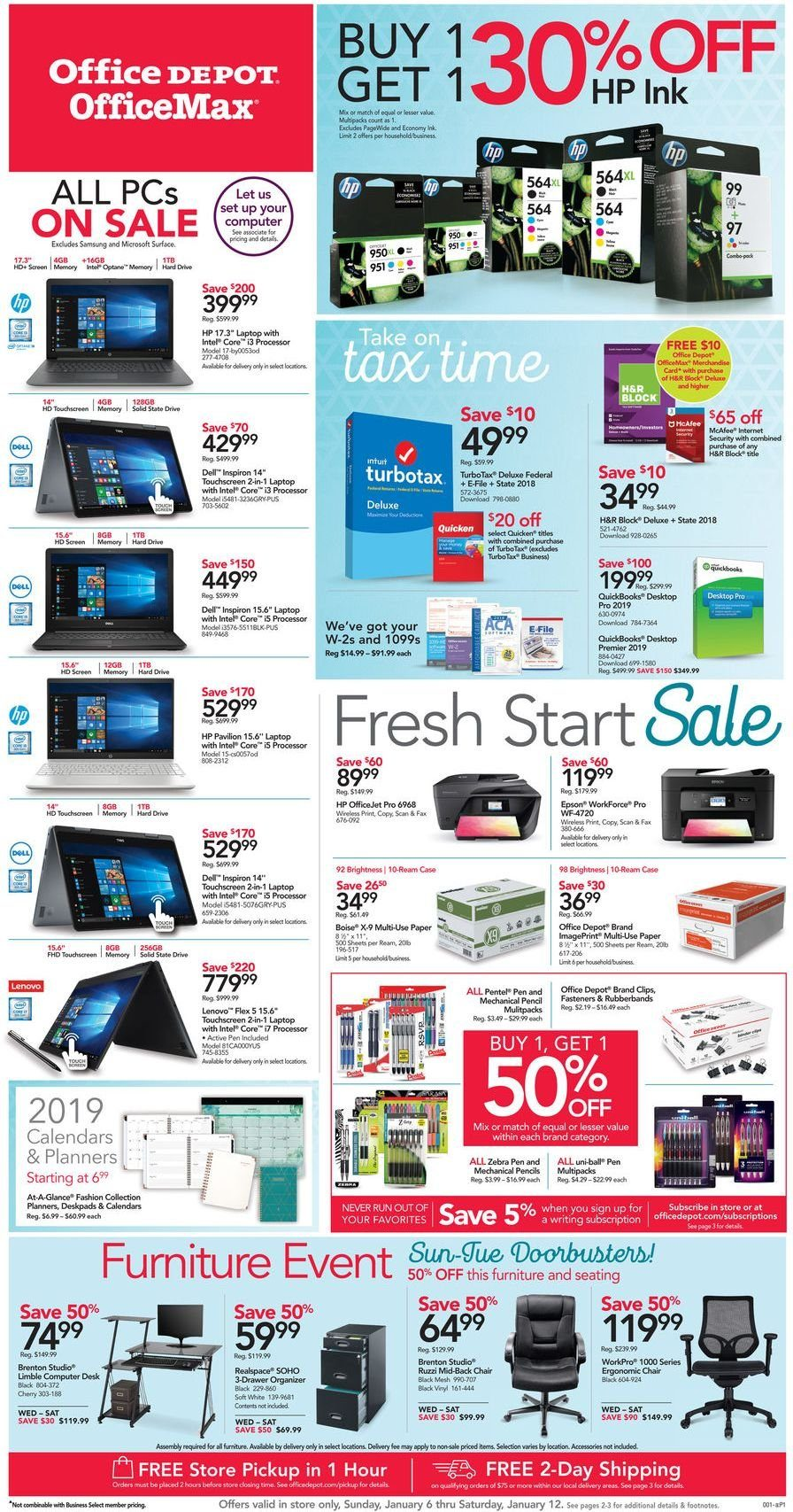 Office DEPOT Flyer  - 01.06.2019 - 01.12.2019. Page 1.