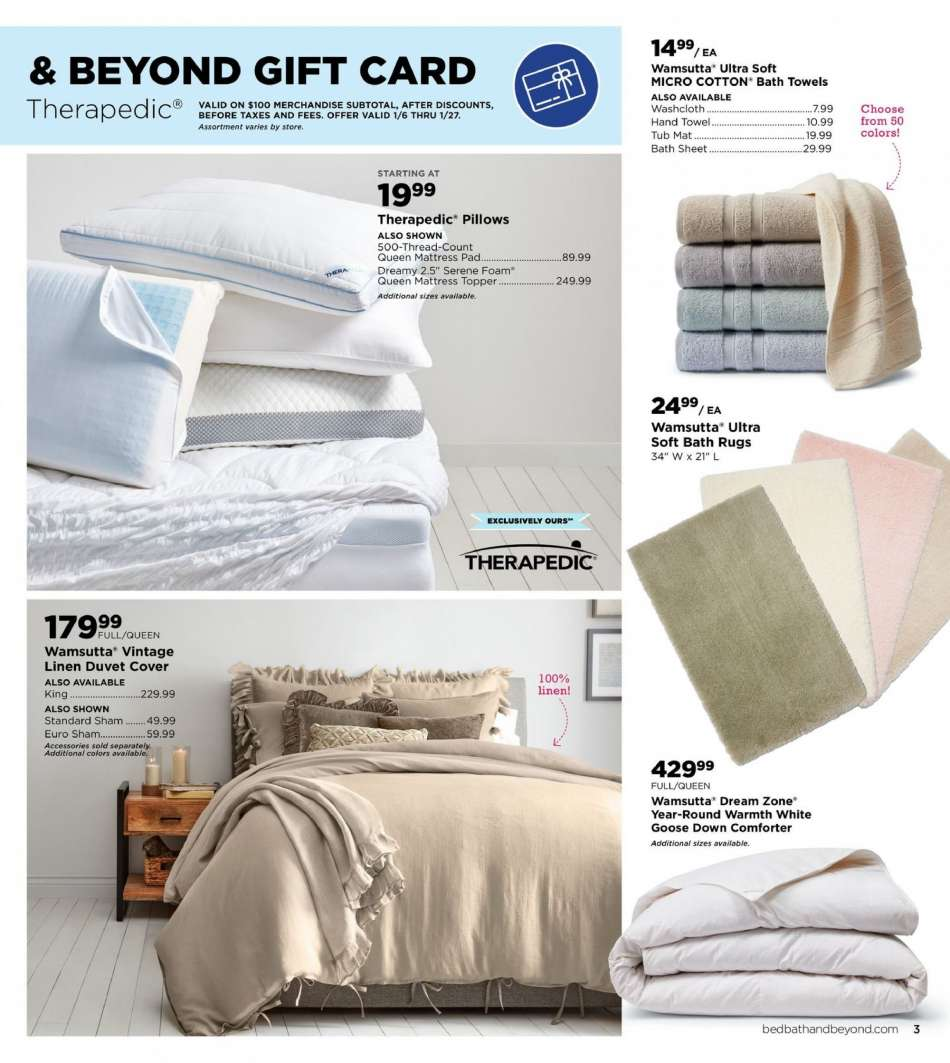 Bed Bath Beyond Flyer 01 07 2019 02 25 2019 Weekly Ads Us