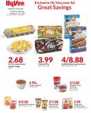 HyVee Flyer - 01.09.2019 - 01.22.2019 - Sales products - beef meat, campbell's, cream, cup, del monte, eggs, fudge, granola, granola bars, ground beef, omega-3, chocolate, soup.