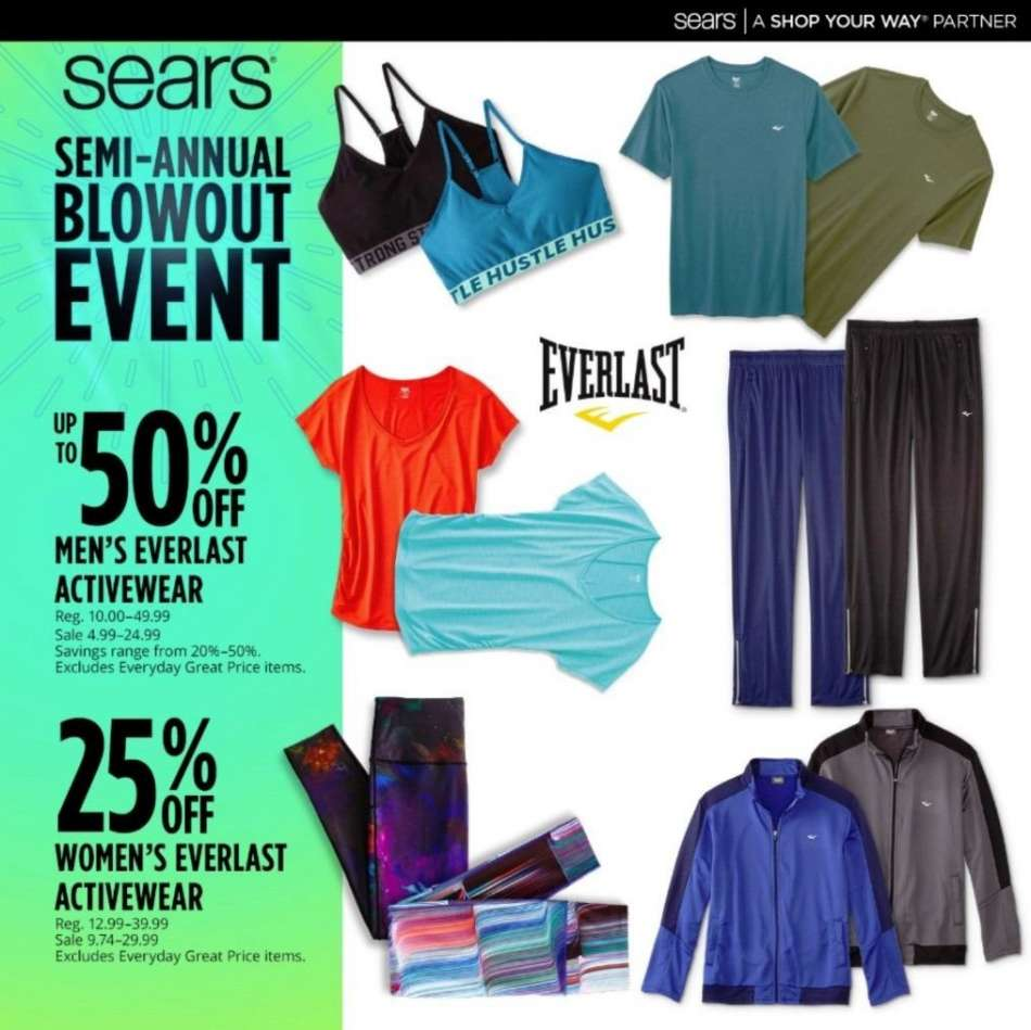 ebed6f7e9d05c Sears Flyer - 01.06.2019 - 01.12.2019 - Sales products - everlast.