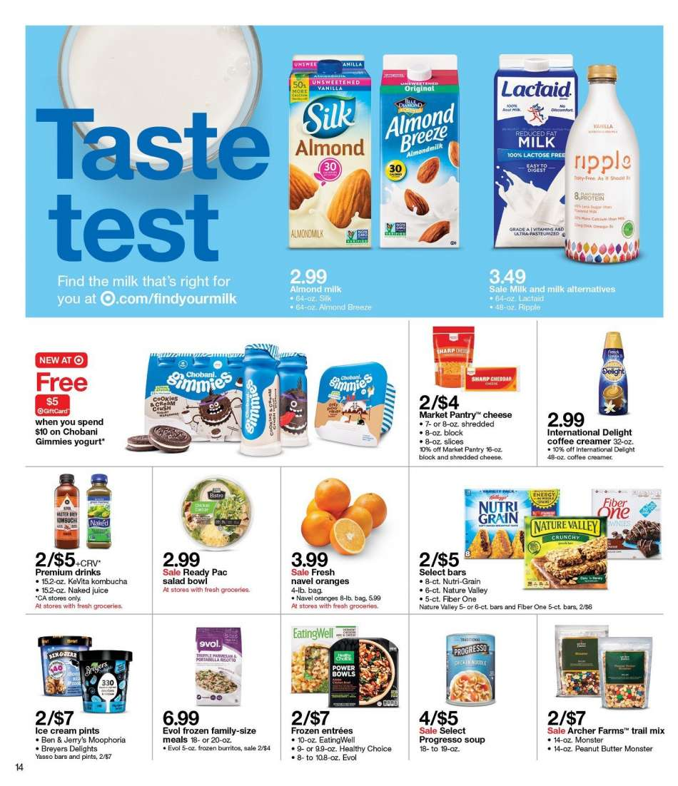 fb9f58e60c2 Target Flyer - 01.13.2019 - 01.19.2019 - Sales products - almond milk