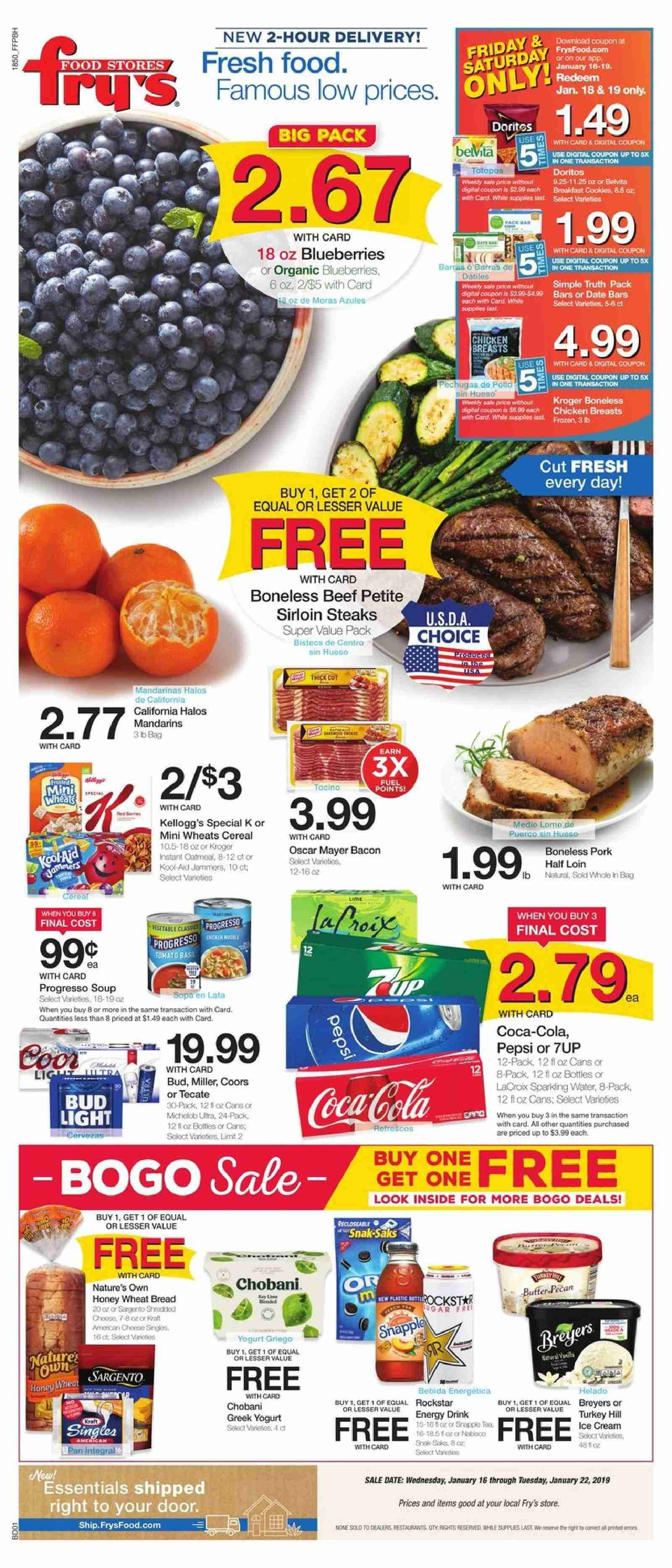 Fry's Flyer  - 01.16.2019 - 01.22.2019. Page 1.