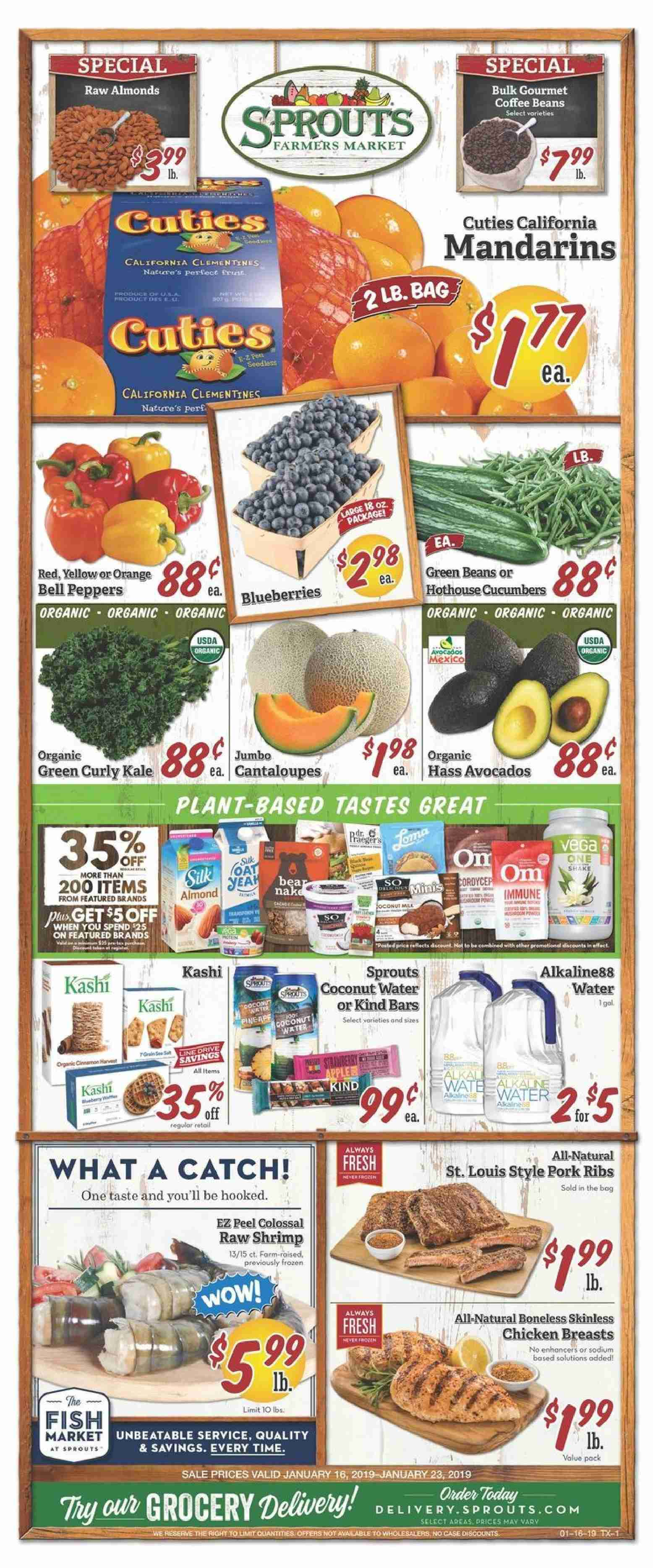 Sprouts Flyer  - 01.16.2019 - 01.23.2019. Page 1.