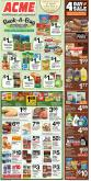 ACME Flyer - 01.18.2019 - 01.24.2019 - Sales products - beef meat, buck, butter, campbell's, carrots, celery, coffee, cream, croutons, eggs, coleslaw, garlic, greek yogurt, radishes, rice, roasted peanuts, russet potatoes, shrimp, spinach, spring water, starbucks, tomatoes, turkey, watch, yellow onions, yogurt, honey, ice cream, ice cream sandwiche, potatoes, puffs, cheerios, cheetos, chicken, chicken breast, pasta sauce, peanut butter, peanuts, pepsi, onion, chocolate, water, cheese, soup, vegetable, pasta, reese, salad, sauce.