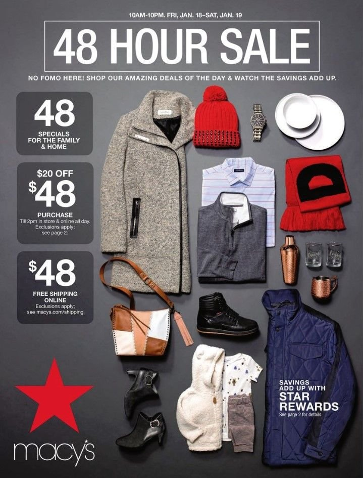 Macy's Flyer - 01.18.2019 - 01.19.2019 - Sales products - watch. Page 1.