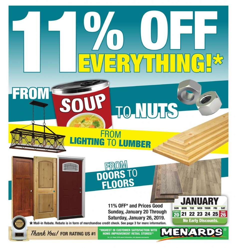 Menards Flyer 01 20 2019 01 26 2019 Weekly Ads Us