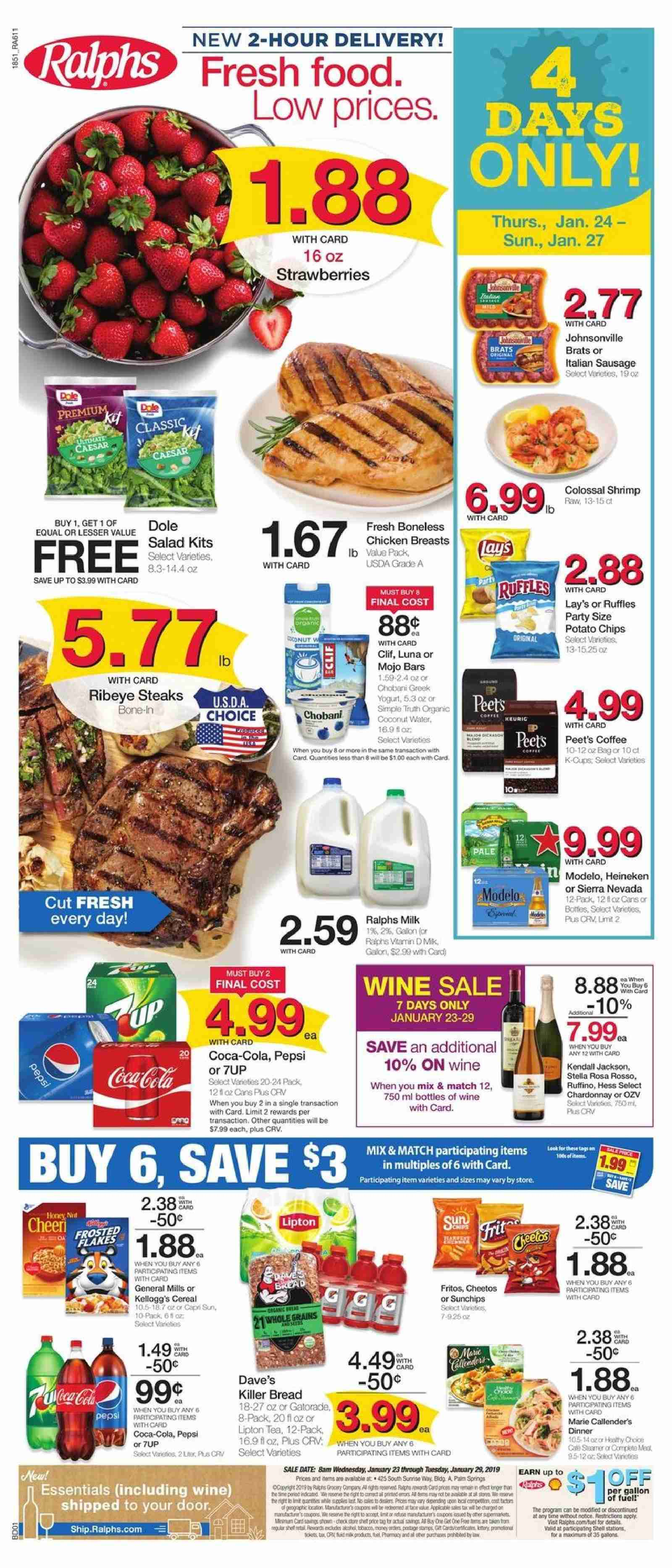 Ralphs Flyer  - 01.23.2019 - 01.29.2019. Page 1.