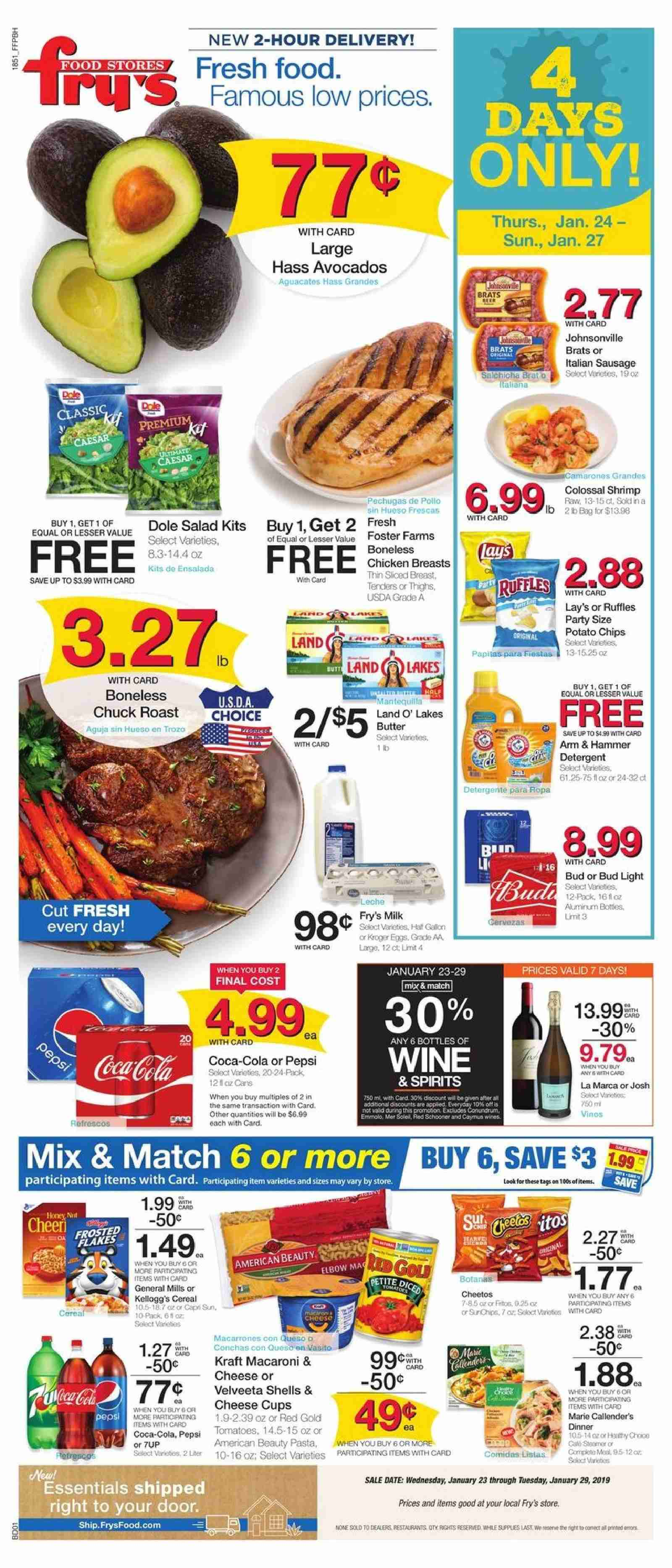 Fry's Flyer  - 01.23.2019 - 01.29.2019. Page 1.