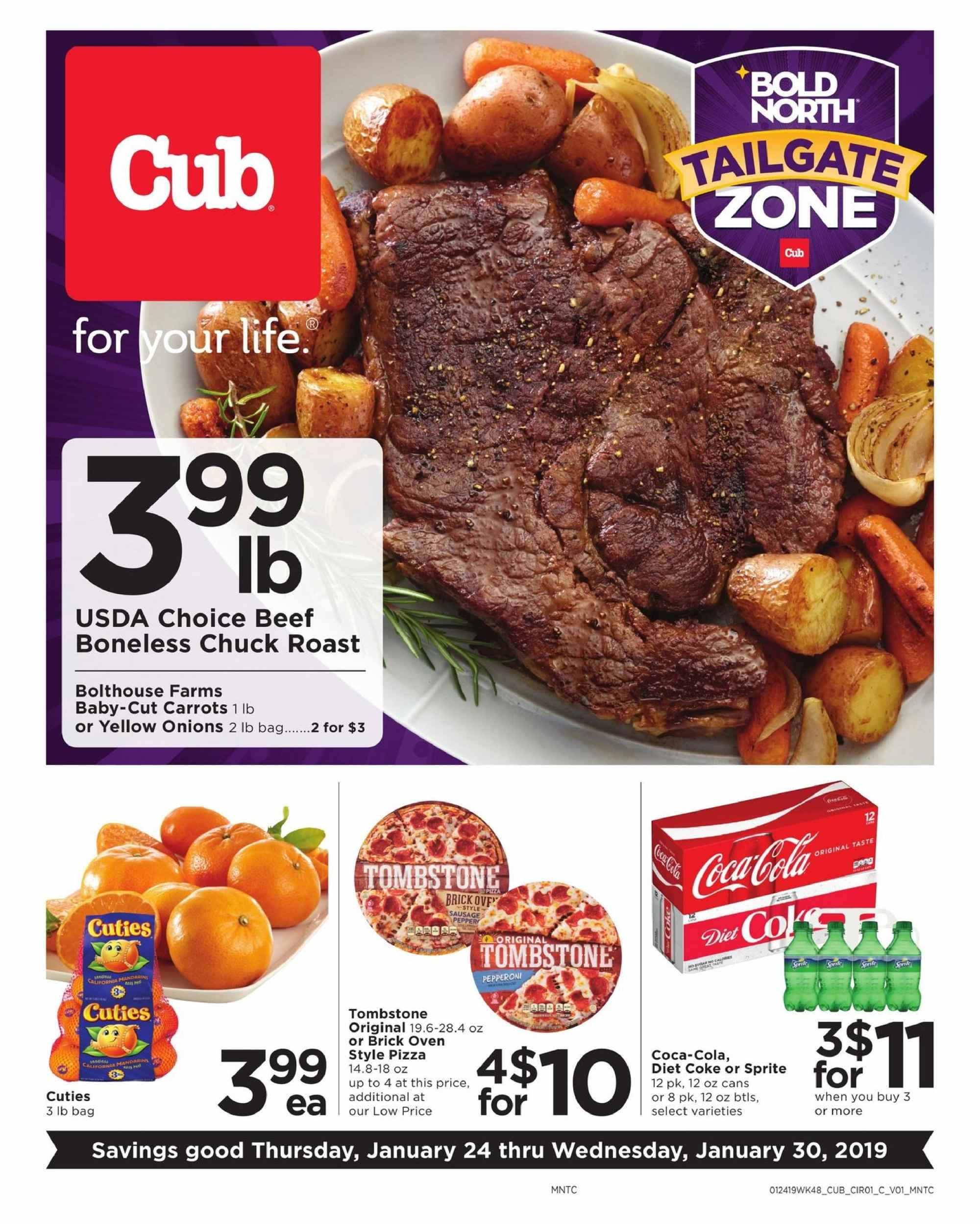 Cub Foods Flyer  - 01.24.2019 - 01.30.2019. Page 1.
