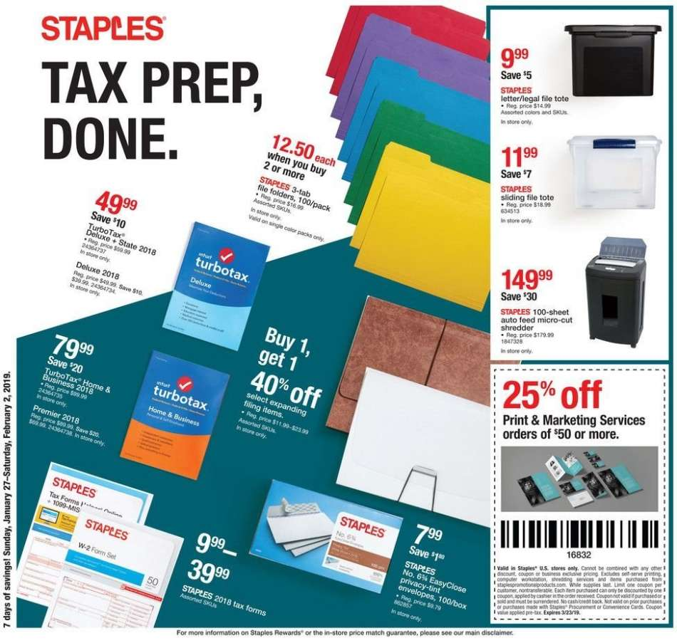 Staples flyer 01 27 2019 - 02 02 2019   Weekly-ads us