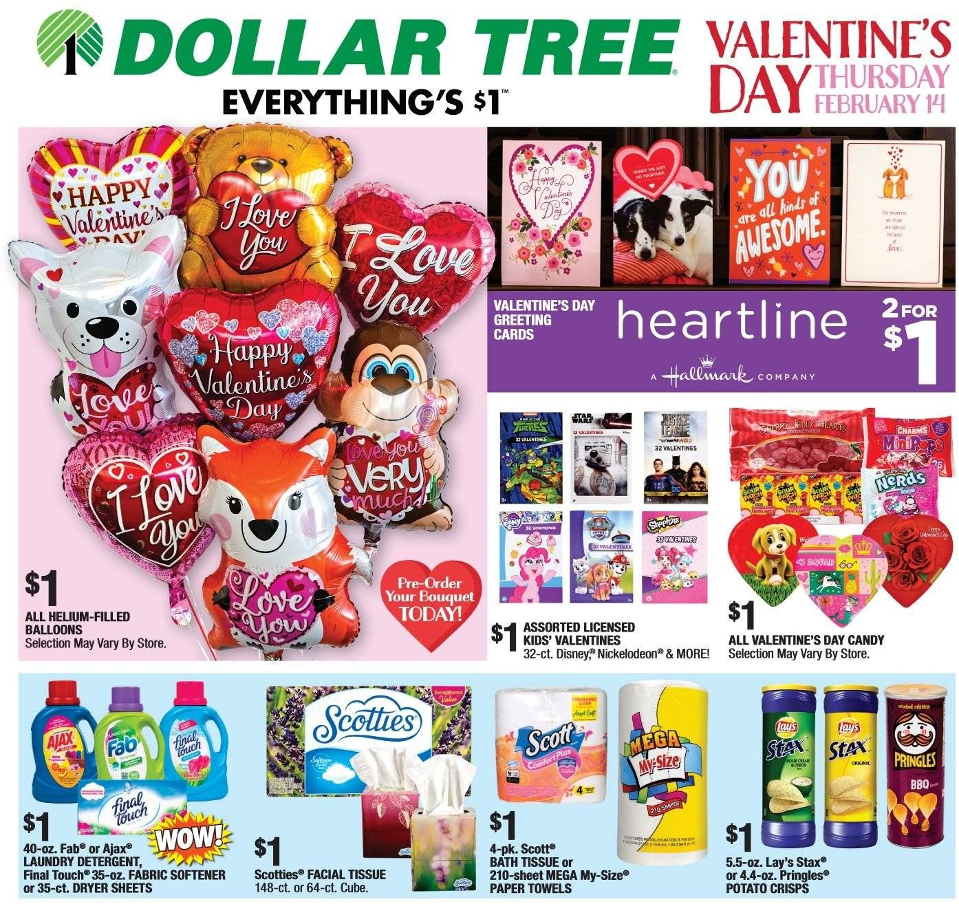 Dollar Tree Flyer  - 01.27.2019 - 02.14.2019. Page 1.