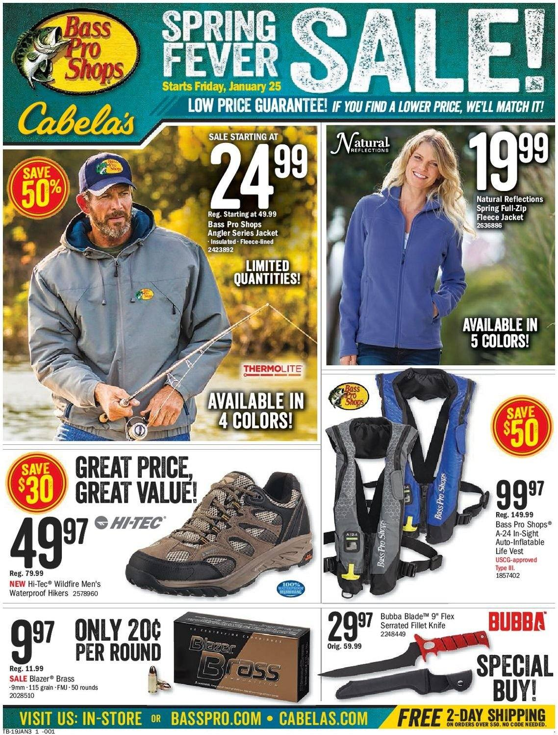 Bass Pro Shops Flyer  - 01.25.2019 - 02.14.2019. Page 1.