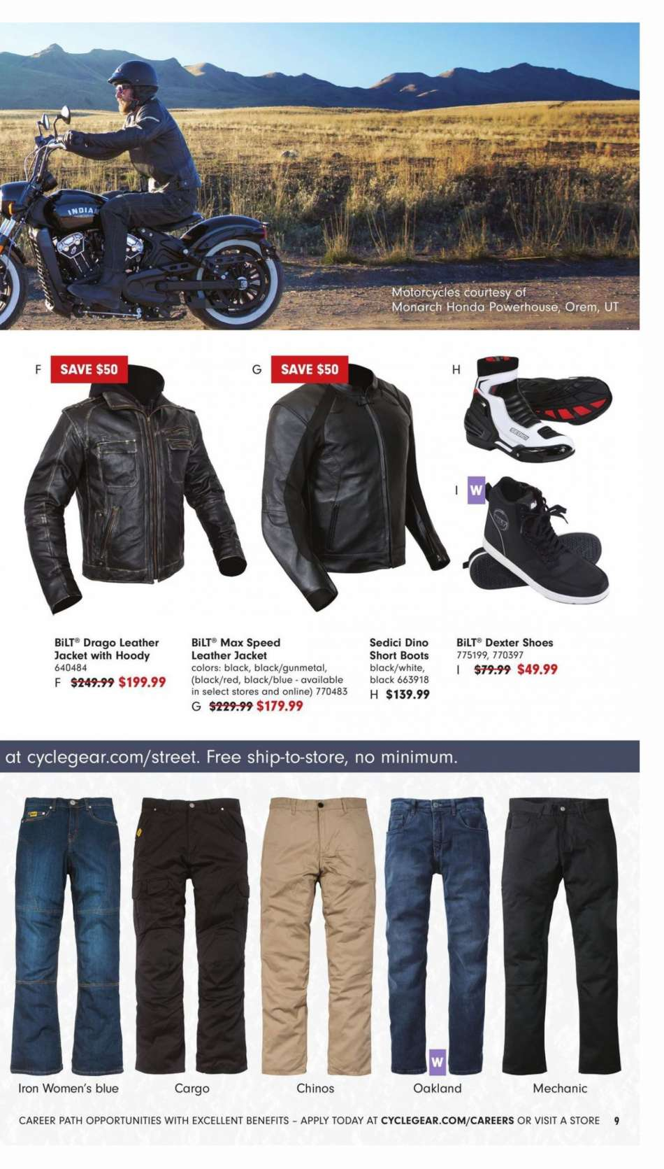 3a3a2d79da Cycle Gear Flyer - 01.23.2019 - 02.24.2019 - Sales products - boots