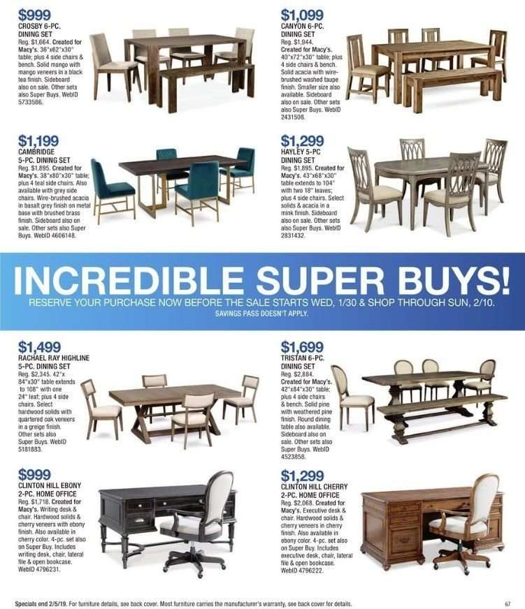 Superb Macys Flyer 01 30 2019 02 18 2019 Weekly Ads Us Interior Design Ideas Philsoteloinfo