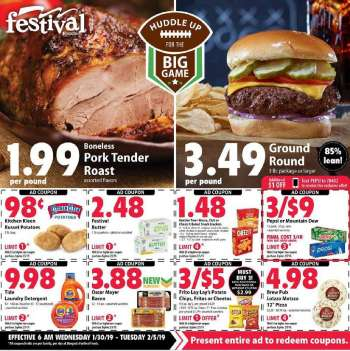 Current Festival Foods Flyer 01302019 02052019 Weekly Ads