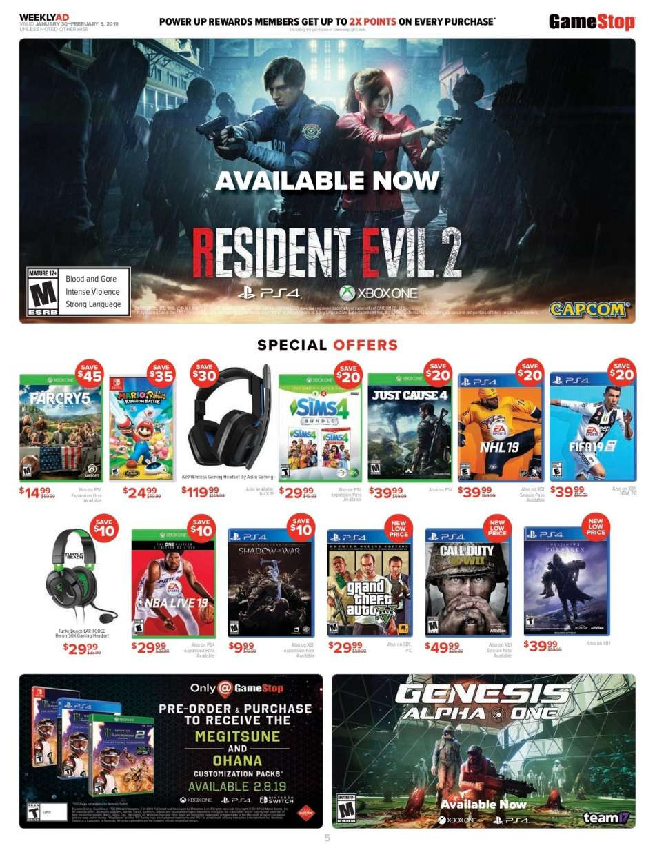 GameStop flyer 01 30 2019 - 02 05 2019 | Weekly-ads us