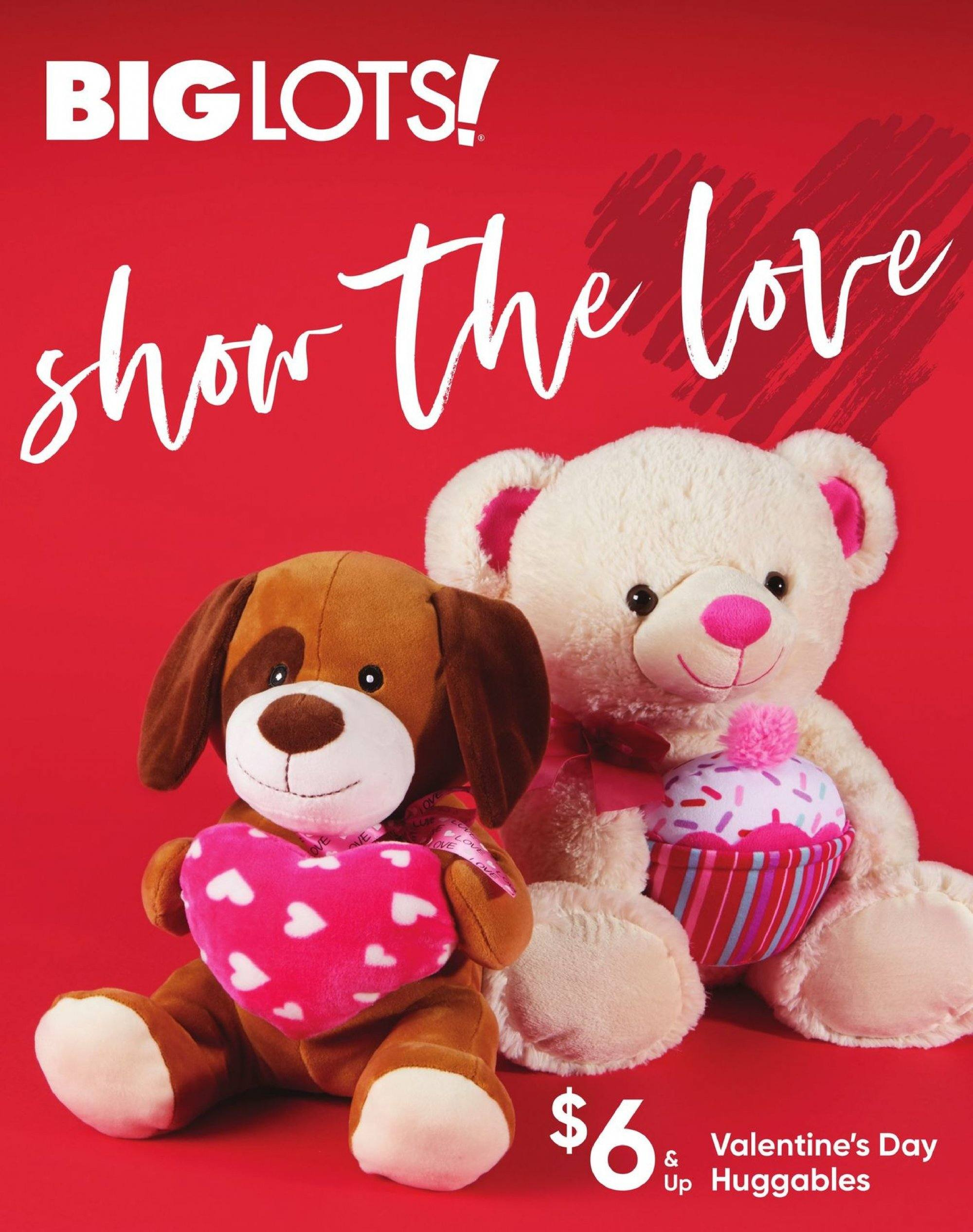 Big Lots Flyer - 02.03.2019 - 02.14.2019 - Sales products - valentine. Page 1.