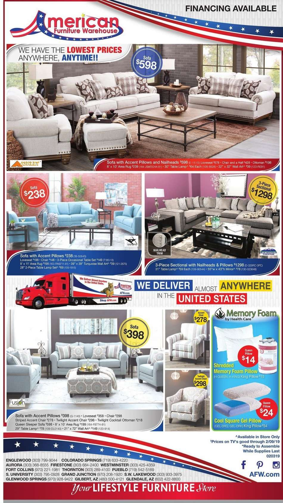 American Furniture Warehouse Flyer 02 03 2019 02 09 2019 Weekly