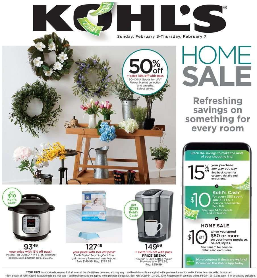 Kohl s Flyer - 02.03.2019 - 02.07.2019 - Sales products - cart 772f594a71cb6