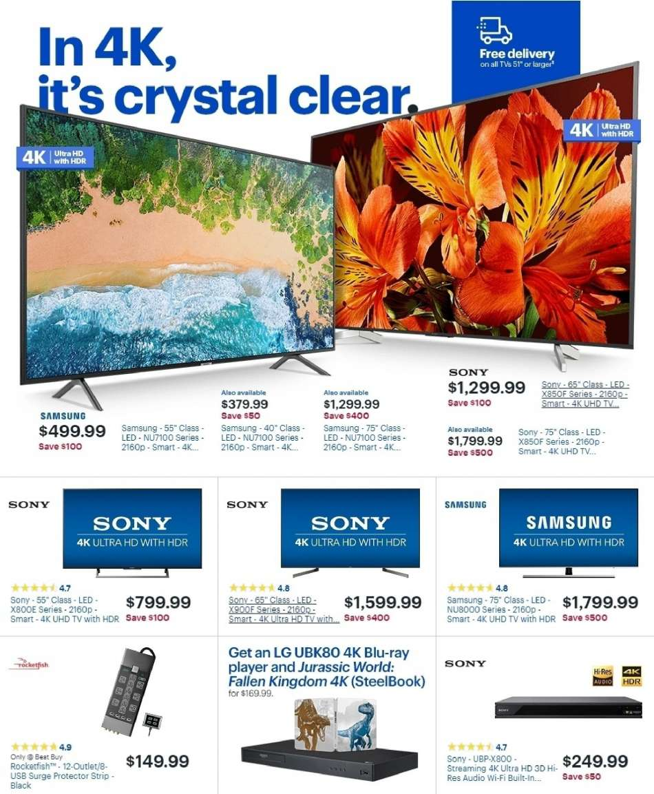 f56e2745994 Best Buy Flyer - 02.03.2019 - 02.09.2019 - Sales products - 4k